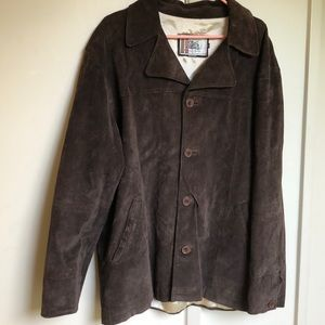 Vintage Suede Dark Chocolate Leather Jacket